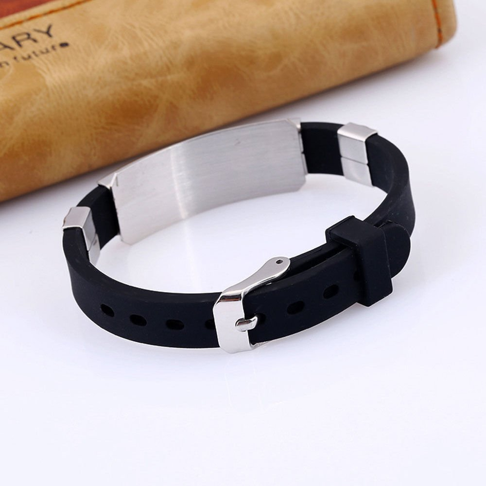 Unisex 12 Constellation Stainless Steel Astrology Silicone Bangle Bracelet CN LOVE STORY (Virgo) by LOVE STORY (Image #4)