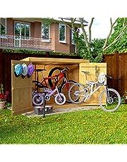 6x3 Overlap Wooden Pent Bike Log Tool Storage Double Door Roof Felt Store Shed 6ft x 3ft