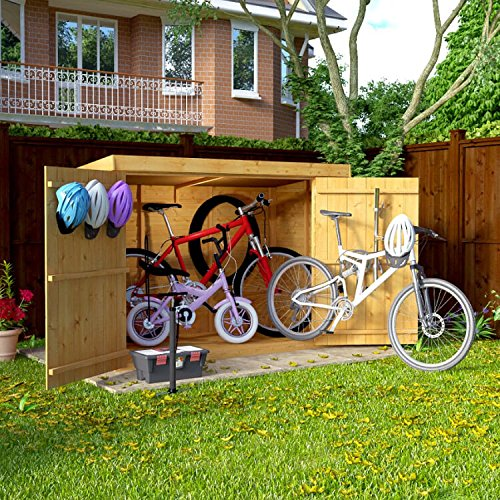 6x3 Overlap Wooden Pent Bike Log Tool Storage...