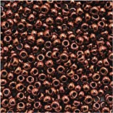 Toho Round Seed Beads 11/0 #222 'Dark Bronze' 8 Gram Tube
