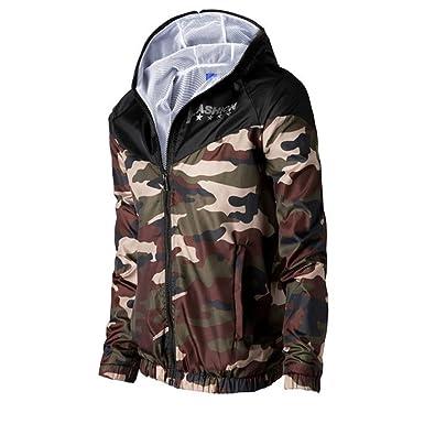 FRAUIT Mode Camouflage Kapuzenjacke Herren Sport