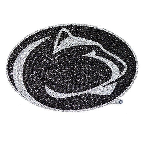 Chrome Gem Gem - Penn State University Nittany Lions College NCAA Sports Team Collegiate Logo Car Truck SUV Motorcycle Trunk 3D Bling Gem Crystals Chrome Emblem Adhesive Decal