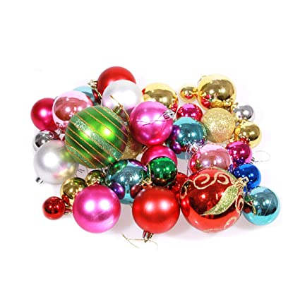 CShopping Christmas Balls Ornaments Set of 36, Various Shatterproof  Christmas Decorations Hanging Tree Balls Holiday - Amazon.com: CShopping Christmas Balls Ornaments Set Of 36, Various