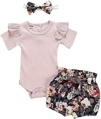 HucodeVan Conjuntos Ropa Bebe niña Verano 6 a 24 Mes Newborn ...