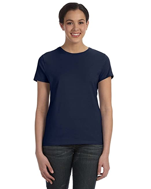 4294018c Hanes Classic-Fit Jersey Women's T-Shirt 4.5 oz: Amazon.co.uk: Clothing