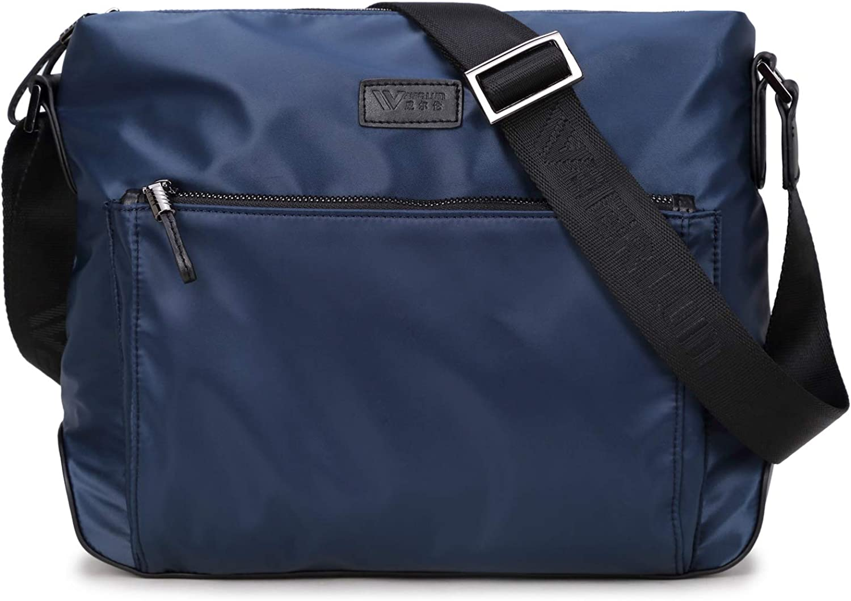 Unisex Messenger Bag Waterproof Crossbody Shoulder Utility Travel Work Black Bag