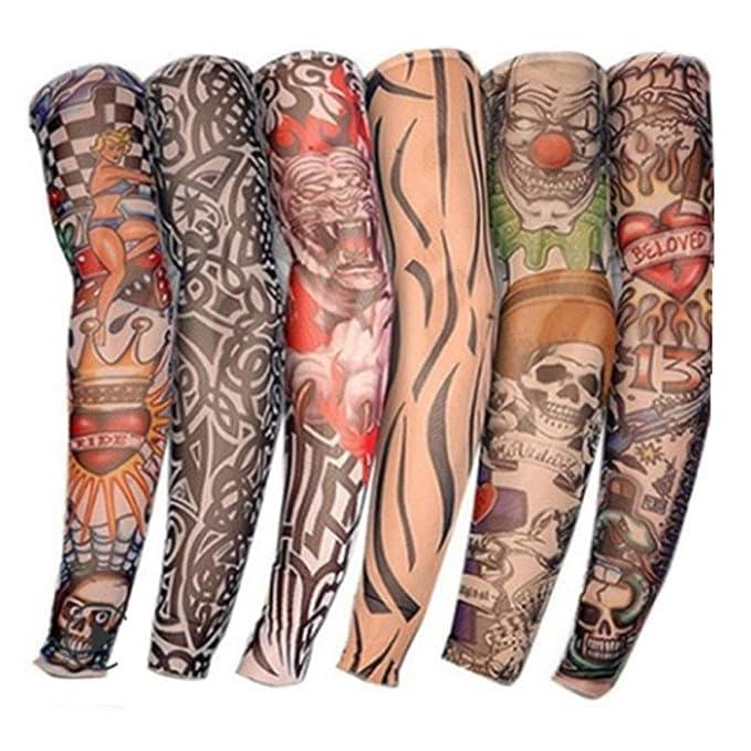6 piezas de tatuaje falso para mangas juego de festiva hombres y ...