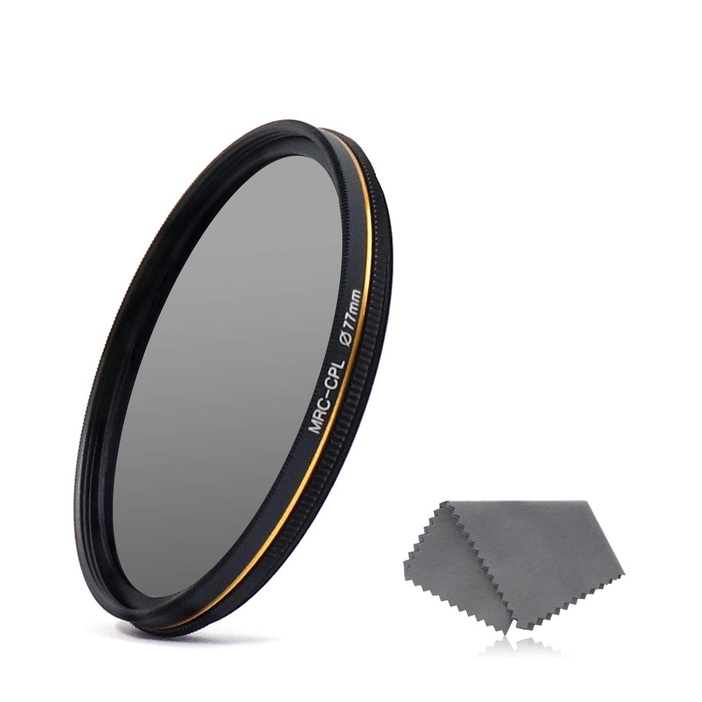 LENSKINS 77mm CPL Circular Polarizing Filter for Camera Lenses, 16-Layer Multi-Resistant Nano Coated, Ultra Slim, German Optics Glass, Weather-Sealed, Circular Polarizer Filter with Lens Cloth by LENSKINS