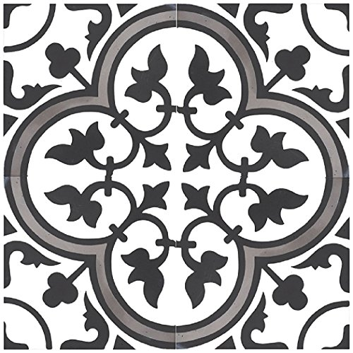Rustico Tile and Stone RTS13 Roseton B Cement Tile Pack of 13, 8