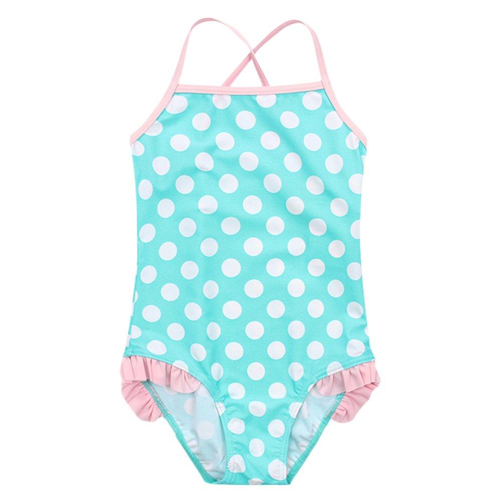 Costume Intero da Bambina Modello Tankini da Ragazza Top Bikini Intero per Bambini Bambina Neonato Ragazze Bambino Cinghie Punti Costume da Bagno Bikini Set Abiti per Nuotare Principessa