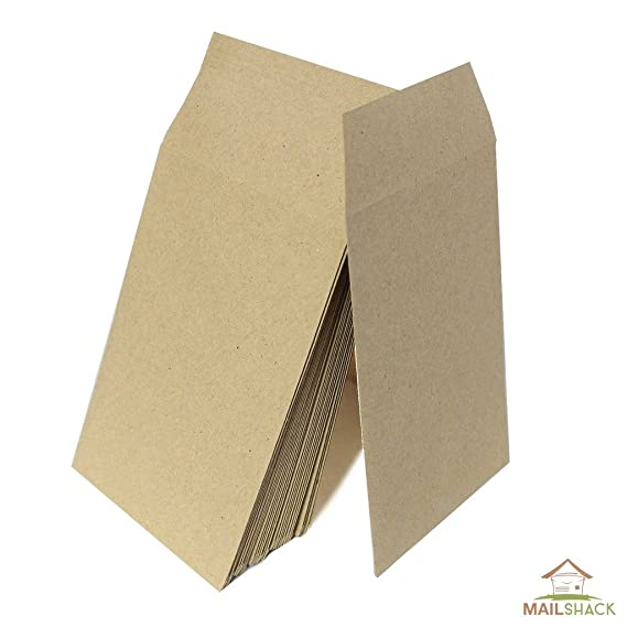Small Brown Envelopes  Dinner Money Wages Coins Beads and Seeds FREE UK DELIVERY