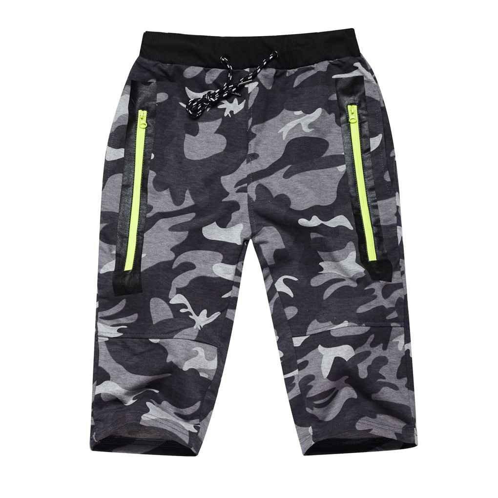 Minzhi Men Summer Camouflage Training Shorts Running Fitness Jogger Causal Short Pants Slim Sports Trousers