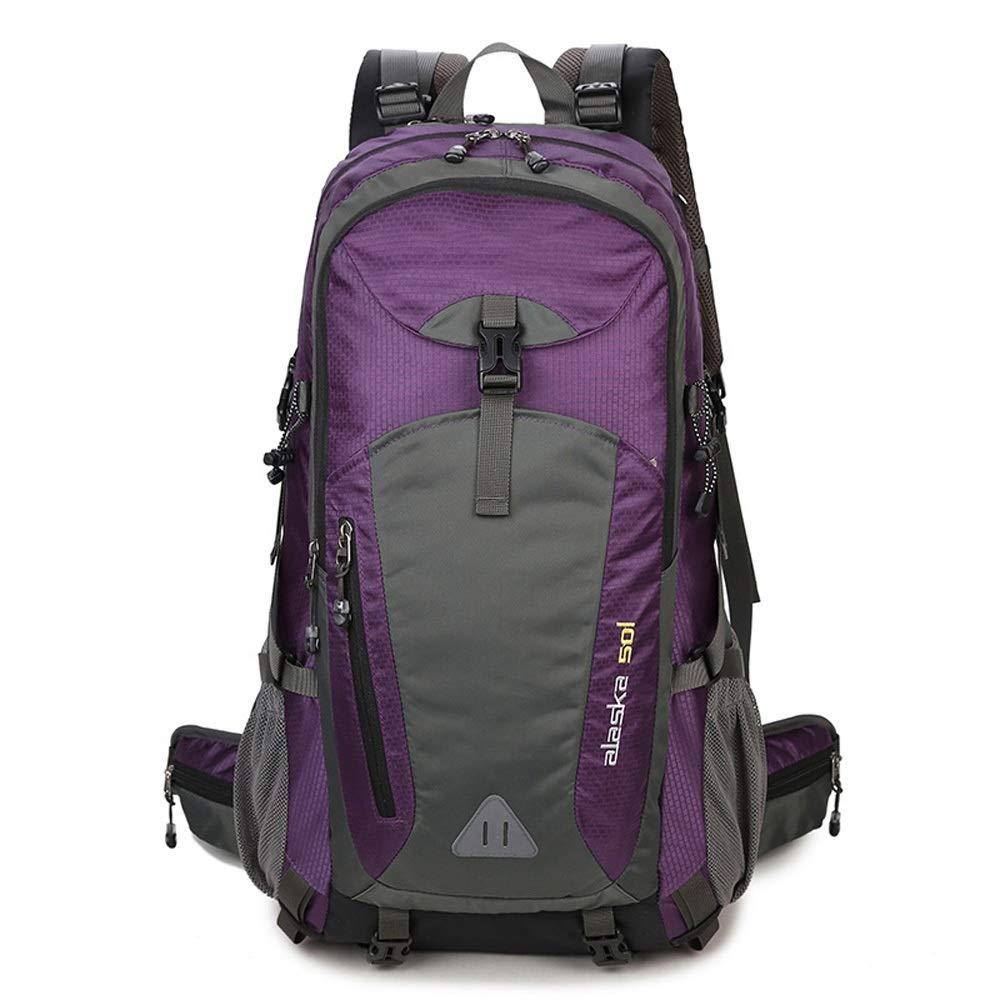 violet-A-40L  NY-close Sac d'alpinisme en Plein air, Sac à Dos léger pour Alpinisme 40L-60L, Sac à Dos Multifonctionnel pour Loisirs, randonnée, Sac à Dos, équitation Tourisme Montagne Sports de Plein air,
