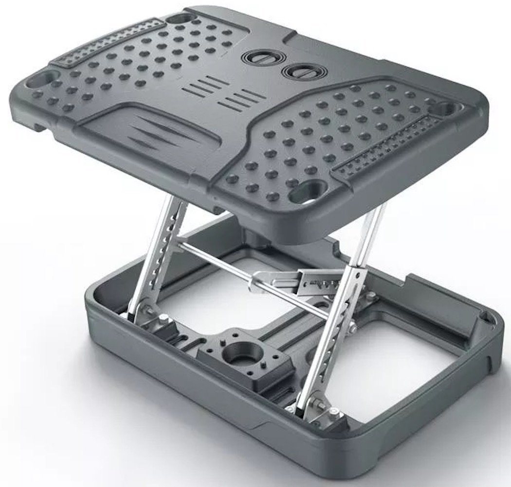 Adjustable Footrest For Home Office, Or Under Desk ergonomic Massaging Foot Rest (Footstool) (Heavy Duty Standard)