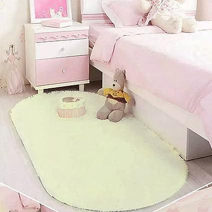 Woopower, soffice tappetto ovale per camera da letto o soggiorno, in ...