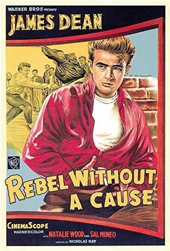 Rebel without a cause Vintage Movie Advertising  Poster reproduction
