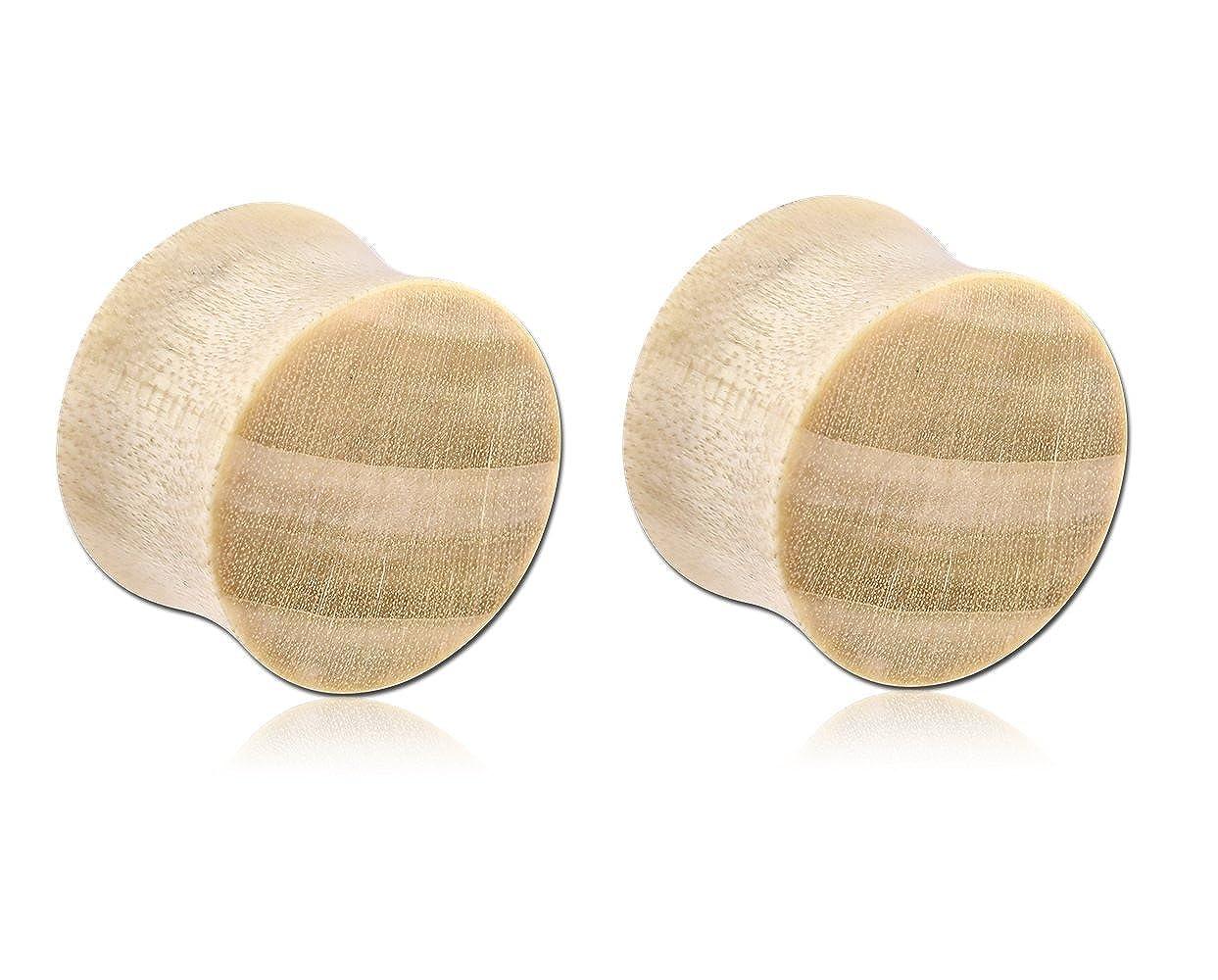 Holy Plug Body Piercing Jewelry Pair of 2 Crocodile Wood Double Flared Plug 000g 0000g 9//16 5//8 11//16 12g 13//16 11g 6g 4g 2g 0g