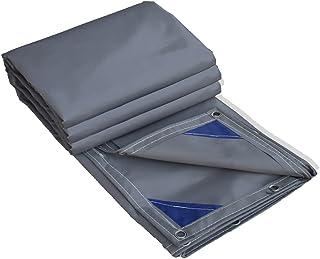 all'aperto Tela impermeabilizzante per tende da sole in PVC ad alta resistenza, resistente all'acqua, tettoia, panno per tende da esterno, grigio scuro (dimensioni : 4.5 * 4m) resistente all'acqua AJZGF