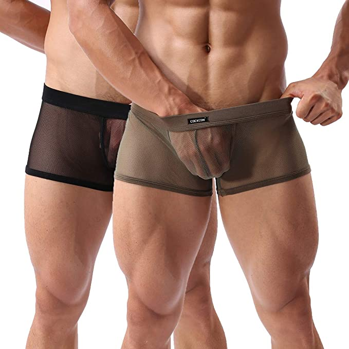 Mens Panties,Sexy Underwear Shorts Underpants Nylon Soft Breathable Briefs New