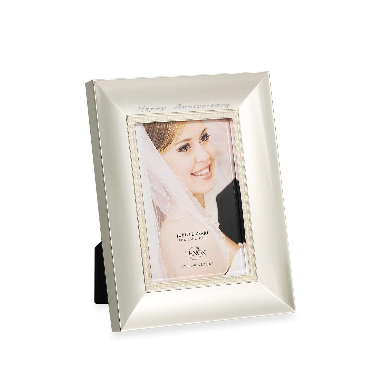 Amazon.com - Lenox Jubilee Pearl 5x7 Frame - Single Frames
