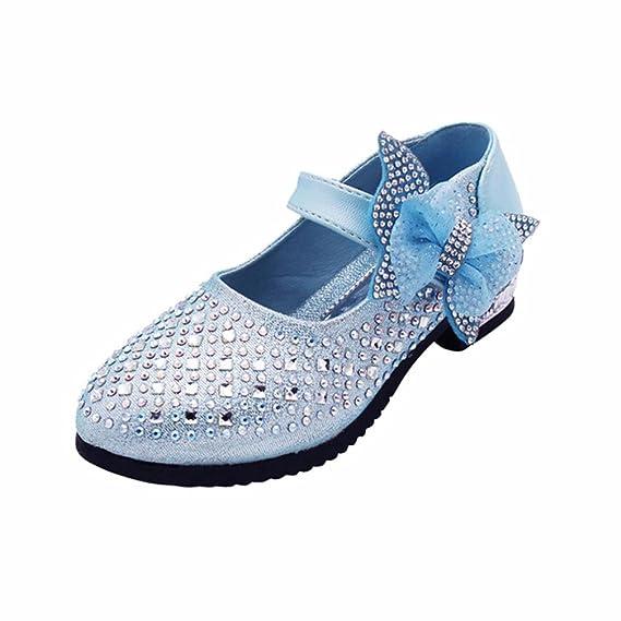 WINWINTOM Zapatos para Bebé, 2018 Unisex Niños Moda Zapatillas, Niños Moda Chicas Soild Bowknot Bling Zapatillas Fiesta Casual Zapatos: Amazon.es: Ropa y ...