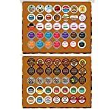 2 Holiday Gift boxes of regular and flavored coffee for the Keurig K Cup Brewer, 2 boxes of 35 cups in each by Custom Variety Pack