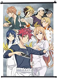 Food Wars!Shokugeki No Soma Poster Japan Anime Cartoon Wall Hanging Scroll Painting Art Characters Hd Poster Home Decor Fans Gift 40 x 60cm