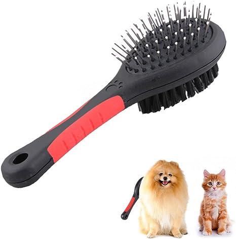 DUBENS Doble cara cepillo Perros y Gatos, Cuidado de Pelo para ...