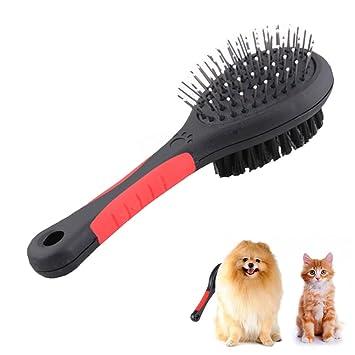 Doppelseitig Hundebürste Katzenbürste, Fellpflege für Hund & Katze ...