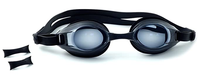 14fe2f5fd8f Swim Flex Prescription Swimming Goggles with Distance Correction in Black  -2.5