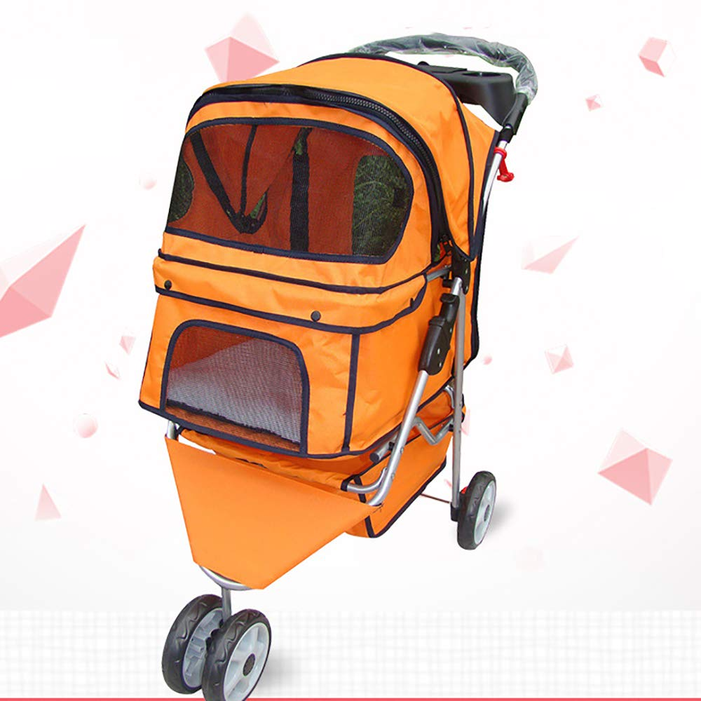 Dog Pushchair, Dog Cat LuxuryTravel,Dog Cat Pushchair Trolley,Carriers & Travel Products for Dogs,Cat Strollers,Foldable
