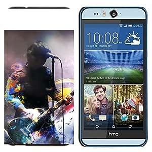 TECHCASE---Cubierta de la caja de protección para la piel dura ** HTC Desire Eye ( M910x ) ** --Firma Música Artista
