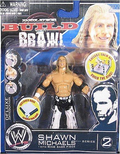 WWE Wrestling Build N' Brawl Series 2 Mini 4 Inch Action Figure Shawn Michaels [Ring Base (Wwe Build N Brawl Ring)