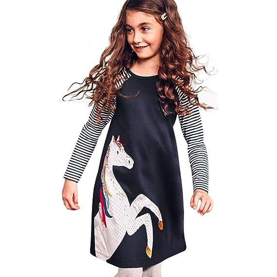 Bestow Vestido de Invierno de Pony para niños Ropa de Primavera Vestido de  Fiesta de Princesa 9f86981f2e5b