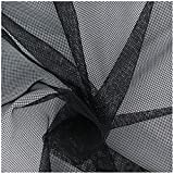 OriginA 60''-Wx5yard-L Mosquito Netting Fabric Large Bed Screen Garden Planting Anti Insect Flies Net for DIY Canopy Tent Black