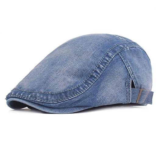 BASDW Gorras clásicas de Mezclilla for Hombre Sombreros de Boina ...