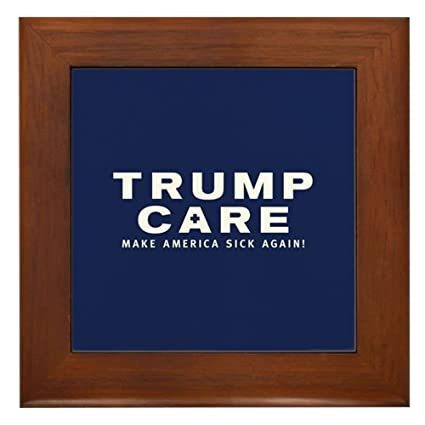 8452f879d4 Amazon.com  CafePress - Trumpcare Make America Sick Again - Framed ...