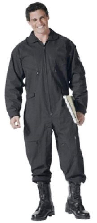 BlackC Sport Coveralls エアフォースタイル ミリタリーフライトスーツ 迷彩 Size (Men's) 5XL Color Black B07H28YSZV