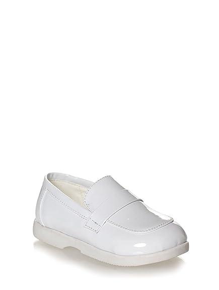 Paisley of London - Zapatos de vestir/mocasines para niños color blanco - Blanco, Sintético, 23: Amazon.es: Zapatos y complementos