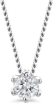 collier femme pendentif diamant