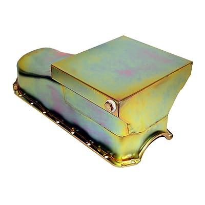 Assault Racing Products A9725X Chevy Small Block Zinc Drag Style 7qt Oil Pan 2-Piece Rear Main SBC Pre-80: Automotive