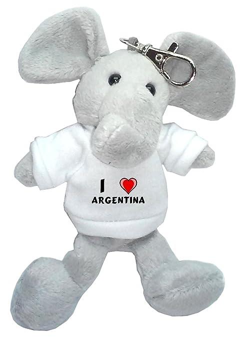 Elefante de peluche (llavero) con Amo Argentina en la ...