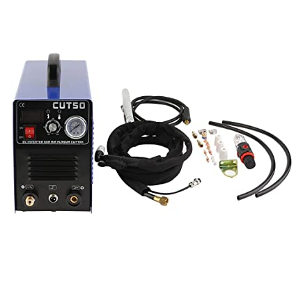 CUT50 Profesional 50A Inversor Digital Air Plasma Cutter Machine 220V con una variedad de repuestos