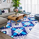 Fashion Geometry Home Rugs - MeMoreCool Nine Patterns No Fading Anti-slipping Simple Style Living Room Tea Table Carpets 63 X 91 Inch