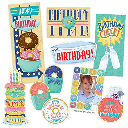 Creative Teaching Press Mid-Century Mod Happy Birthday Bulletin Board Set (8442) ()