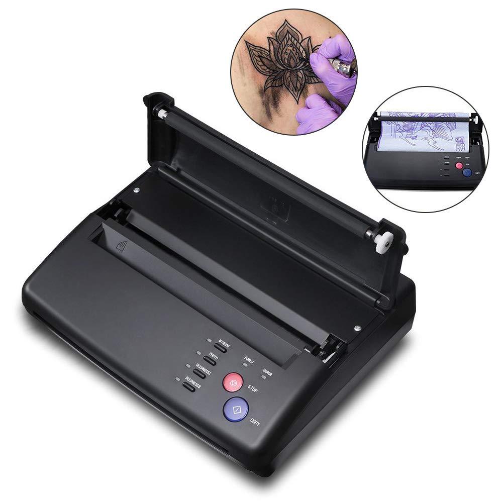 Máquinas de Tatuaje Profesional A5 A4 copiadora transferencia térmica Stencil papel impresora máquina(Negro)
