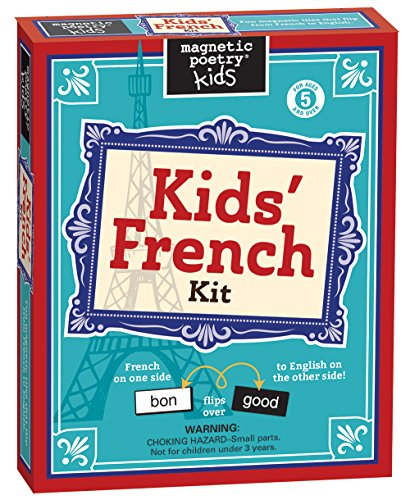 Magnetic Poetry - Kids' French Kit - Ages 5 and Up - Words for Refrigerator - Write Poems and Letters on the Fridge - Made in the USA French Words For Christmas