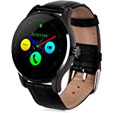GBlife K88H Bluetooth Smart Watch with Heart Rate Monitor Wristwatch for iOS and Android (Black)