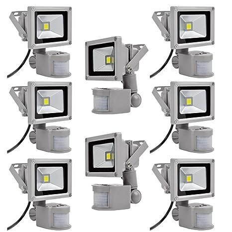 PrimLight Foco con Sensor de Movimiento 8X 10W,Proyector Led ...