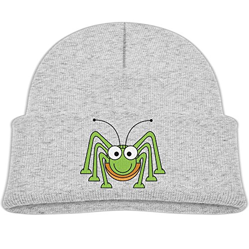Youth Kids Green Spider Boys And Girls Flexible Wool Winter Knit Hats For Child Ash (Skully And Green Demon)